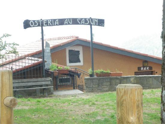Bajardo, Italie : osteria ristorante au casun