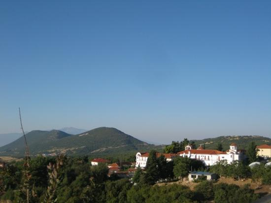 Jennifer Home-Hotel: view from the terrace overlooking the nearby monastery