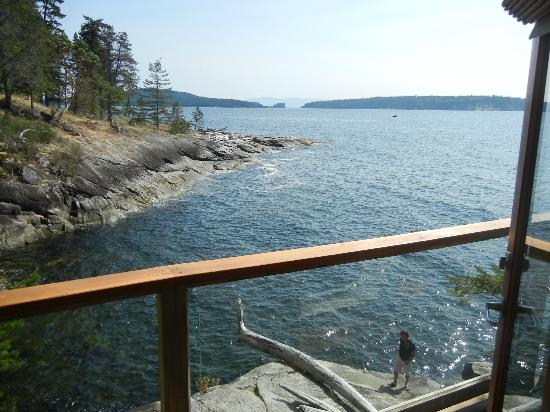 Rockwater Secret Cove Resort: The view from our deck at the Kittyhawk Cove Tent Suite