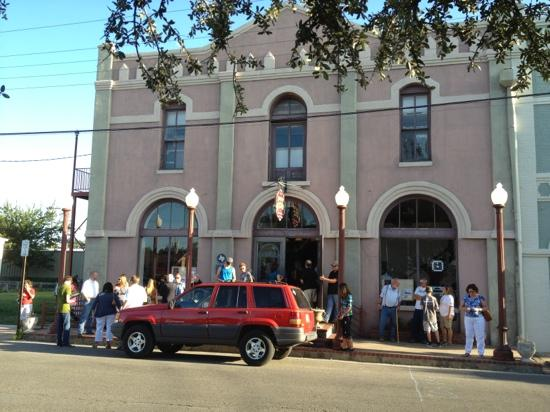 Bastrop Opera House : outside, Main Street area
