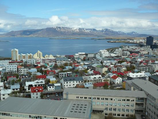 Icelandair Hotel Reykjavik Natura: View of downtown Reykjavik from top of Hallgrimskirkja