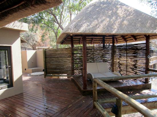 Naledi Bushcamp and Enkoveni Camp: Part of the room, overlooks the river!