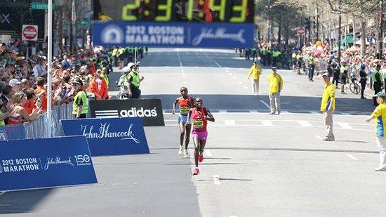 Starting line of Boston Marathon