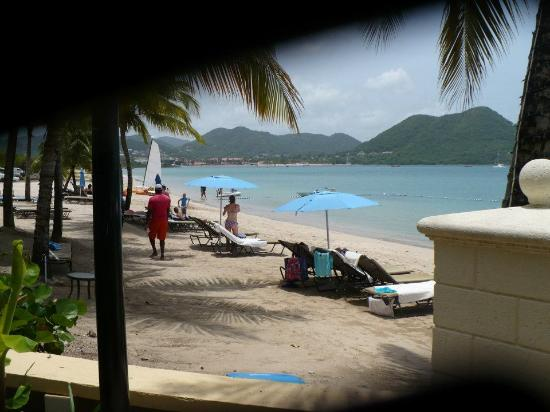 The Landings St. Lucia: partial Beach shot