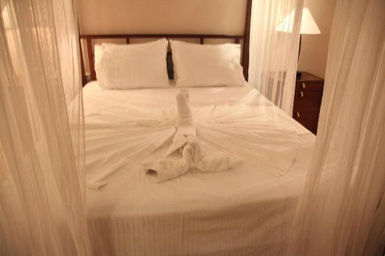 อีโนเดีย โฮเต็ล: Bedroom, before departure (Prepared by Hotel Staff)