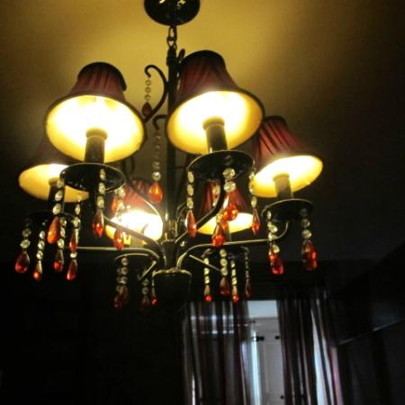 Luciano Valletta Boutique Accommodation: one of many of the lovely chandeliers