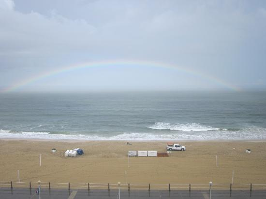 Ocean Beach Club: Rainbow after a storm