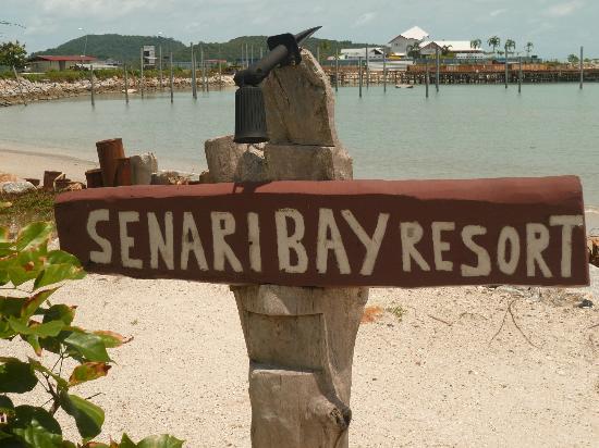 Senari Bay Resort : Depuis le début de la petite plage privée