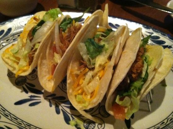 Abuelo's : happy hour menu Carnita Street Tacos! you get 2 per order.