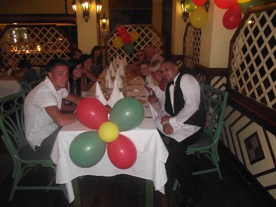 ClubHotel Riu Merengue: My birthday party and our lovely waiter Javier