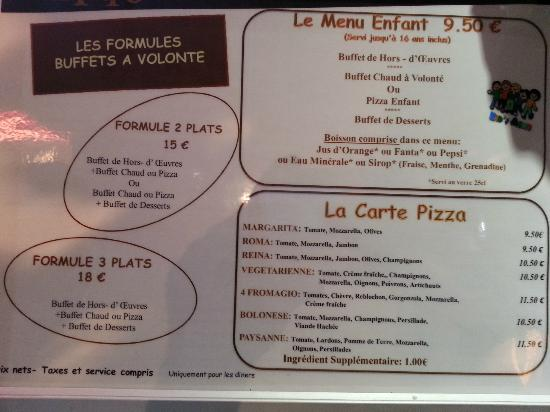 ‪‪Inter Hotel Alteora site du Futuroscope‬: Dinner Menu