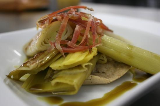 Oréade Restaurant et Balnéo : Poireaux vinaigrette sur blinis au sarrasin