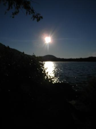 Prospect Point Cottages - Blue Mountain Lake: Sunrise from the Balsam cottage