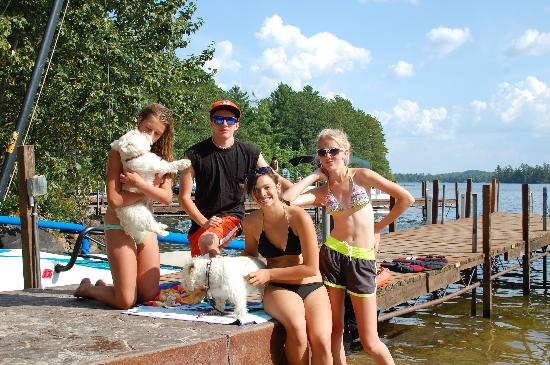 White Eagle Resort on Lake Vermilion: Ethan got anything we needed within a half hour. Here he is with some of the resort guests.