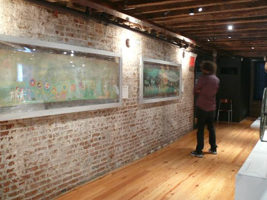 American Folk Art Museum Original Brick Walls In The Gallery