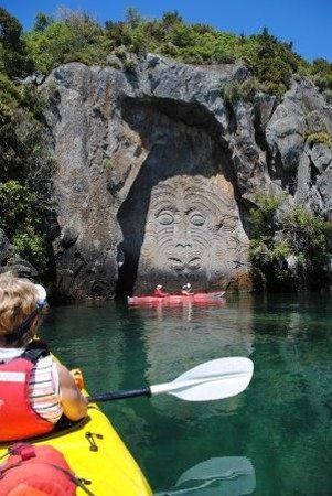 Canoe & Kayak Taupo Tours: Maori Carvings