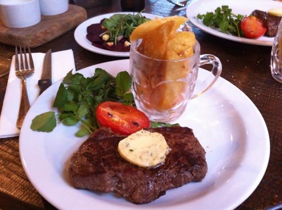No.5 Bridge Street: rump steak garlic butter