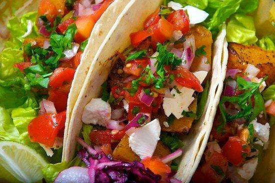 La Choza: Roasted squash, sweet potato and ferta tacos