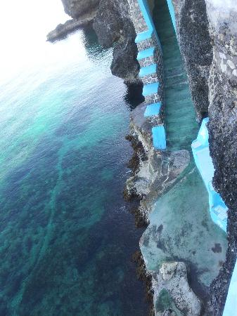 Steps Leading down to sea from Blue Cave Castle Grounds