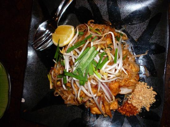 Hanuman Alice Springs: pad thai flat rice noodles wok tossed with prawns