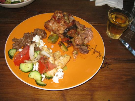 Cretan Cooking: The finished product