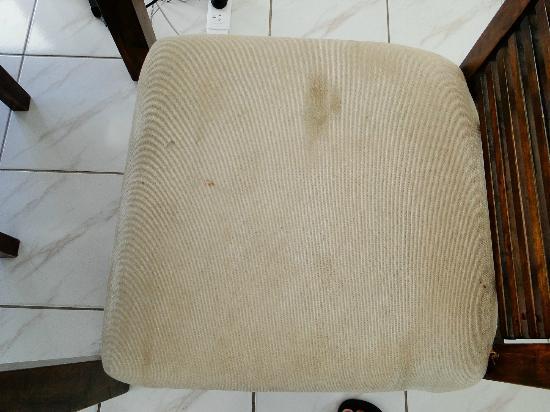 Bahia Beachfront Apartments: Upholstry on dining chairs was disgustingly filthy