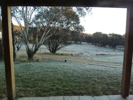 Snowy Wilderness: Early morning frost - from our verandah