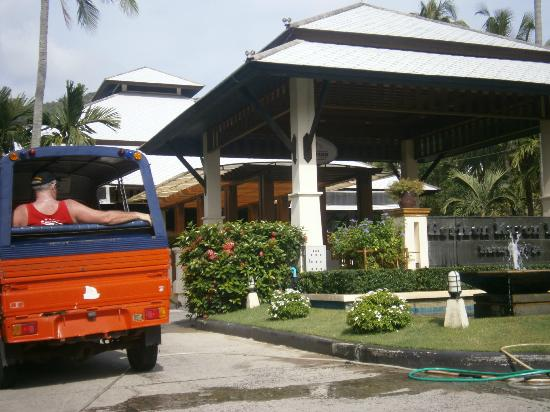Horizon Karon Beach Resort & Spa: Husband in Tuk-Tuk.....lol