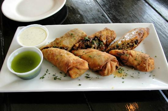 Stripers Bar and Grille: Cheesesteak egg rolls are great.