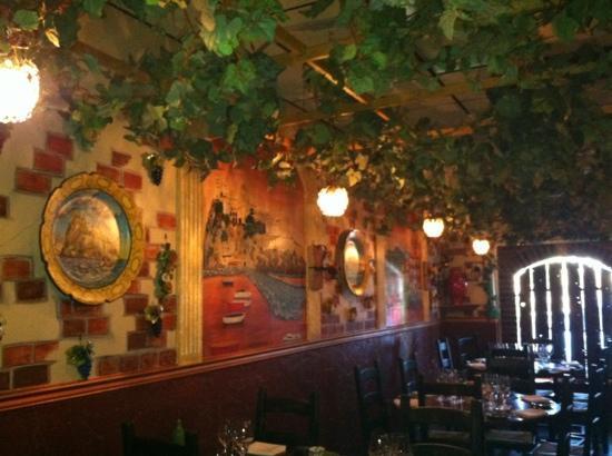 Inside Luca's Ristorante in Somerset, NJ
