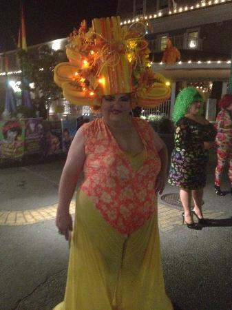 Provincetown Causeway: A cabaret performer