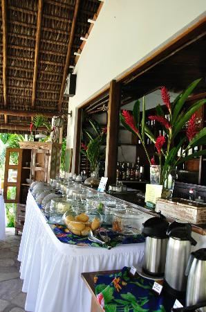 Hotel Pousada Natureza : Breakfast place : perfect of variety, full of flavour and enormous
