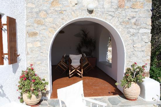Apostolis Windmill: veranda coperta