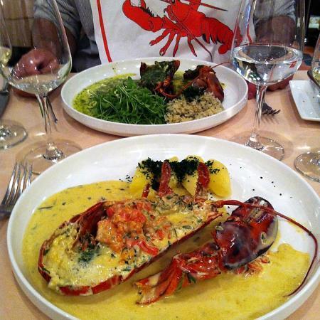 Le Chardonnay: Assiettes de homard
