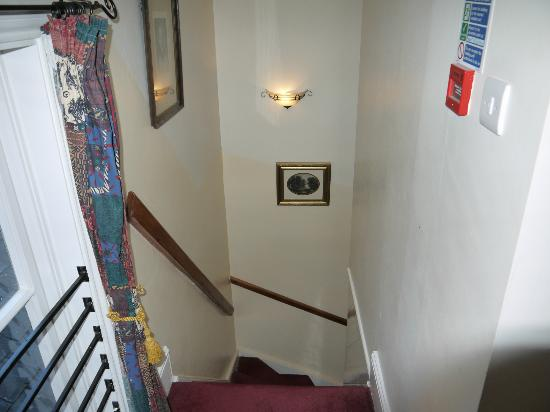 The Townhouse: Stair cases to 1st floor