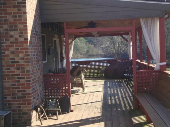On Cranberry Pond Bed and Breakfast: The porch