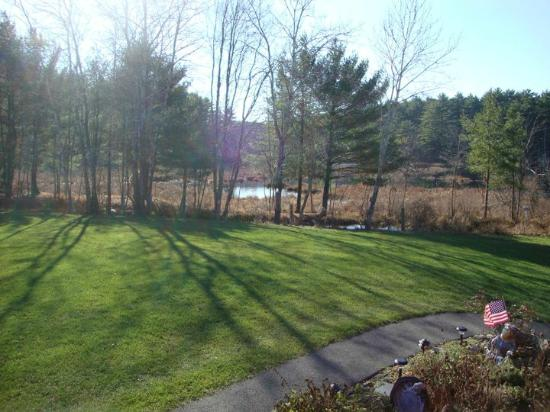 On Cranberry Pond Bed and Breakfast: Morning coffee