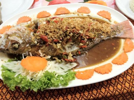 Kwong Shop Seafood : Whole redfish Thai style