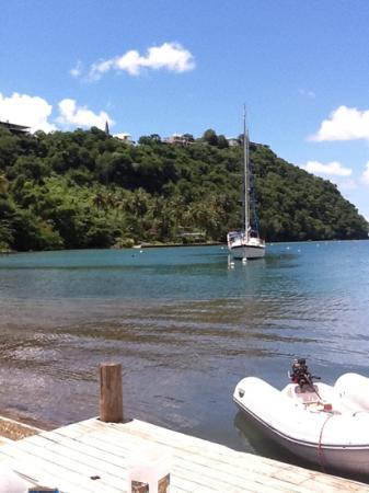 Chateau Mygo House of Seafood: Marigot Bay dal ristorante