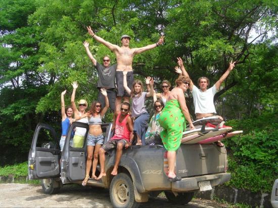 Las Plumerias Lodge and Surf : Having fun!!!!!!!