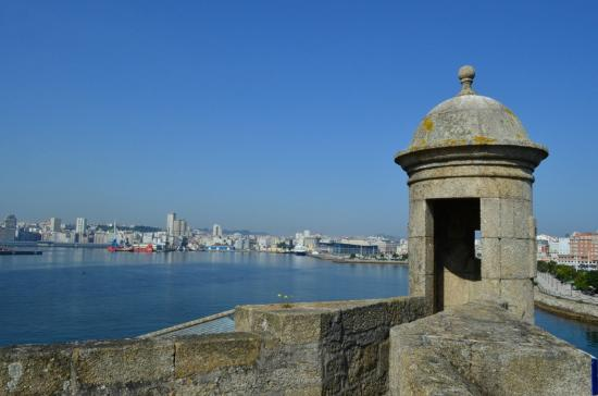 Castle of San Anton: View of the dock
