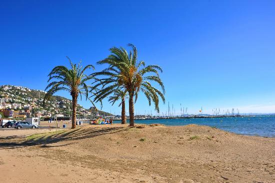Hostal Novel Risech : La plage devant l'hôtel