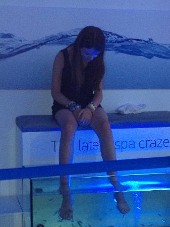 Kolimbia, Greece: Fish Spa - Not for the ticklish!!!!