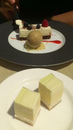 Dessert cheesecake after eight et amuse bouche picture of le comptoir italien la rochelle - Restaurant le comptoir des voyages la rochelle ...