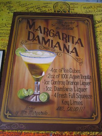 Todos Santos, Mexico: Margarita Damiana recipe