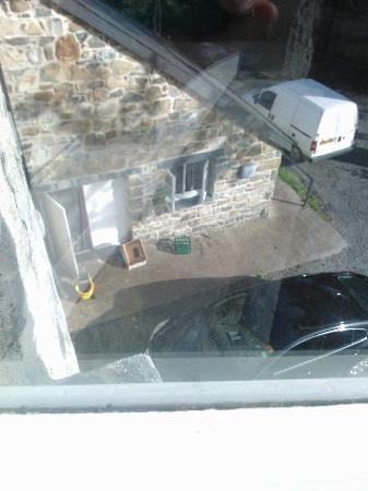 Cross Foxes - Bar Grill Rooms: This is the view of the kitchen from another bedroom window.