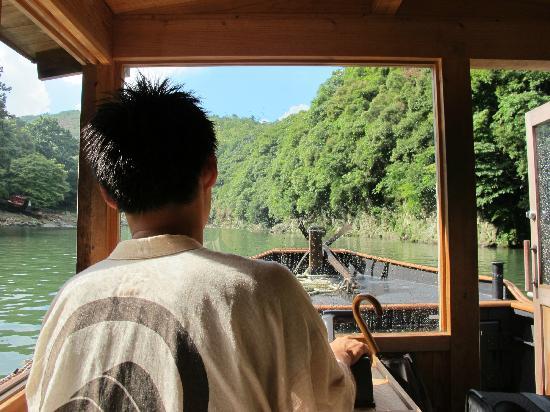 HOSHINOYA Kyoto: The hotel's boat