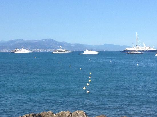 Royal Antibes Hotel, Residence, Beach & Spa: View from the beach club