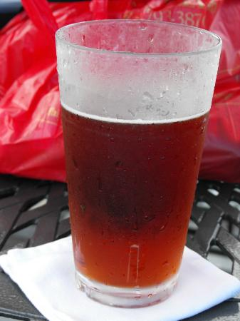 A cold beverage