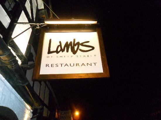 "Lambs Restaurant: ""Lambs of Sheep Street"""